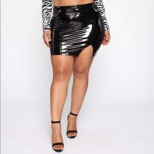 """Fashion Nova """"Make It Last Vinyl Mini Skirt"""